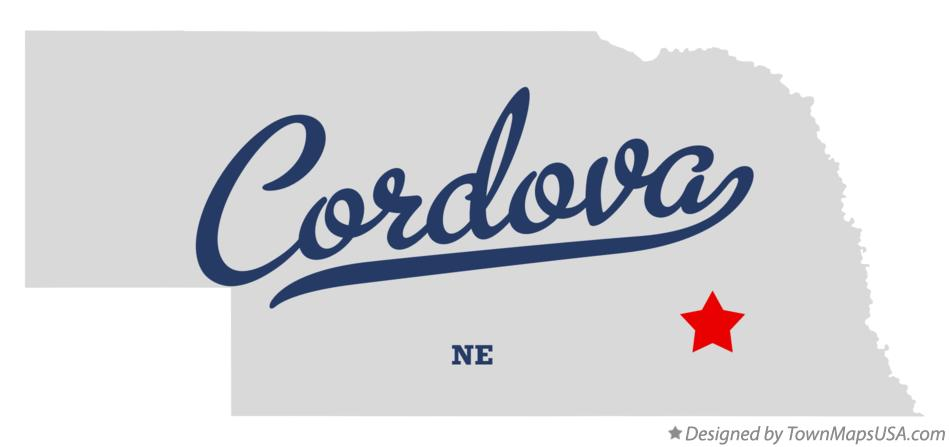 Map of Cordova Nebraska NE