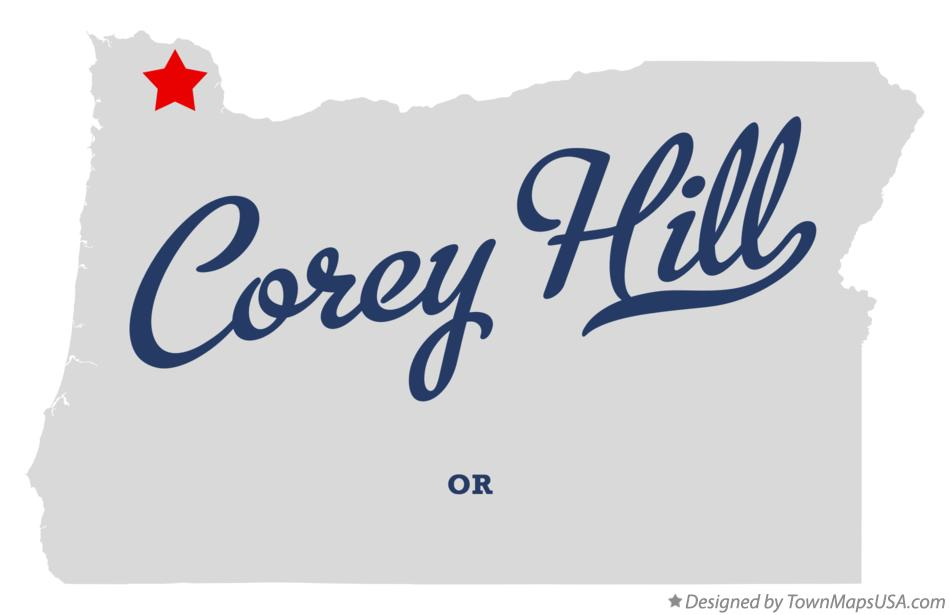 Map of Corey Hill Oregon OR