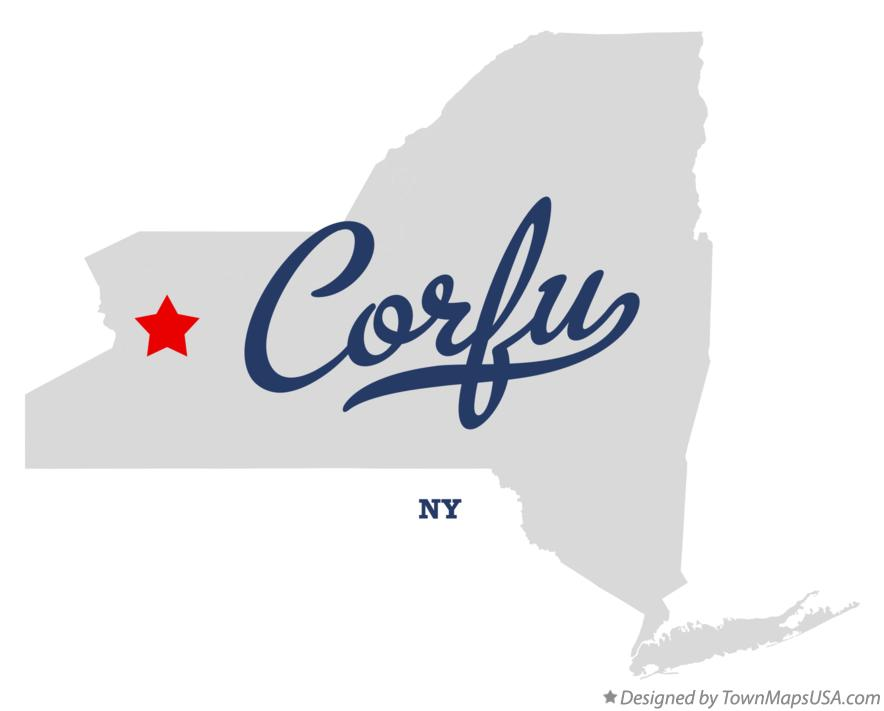 Corfu (NY) United States  city pictures gallery : Map of Corfu New York NY