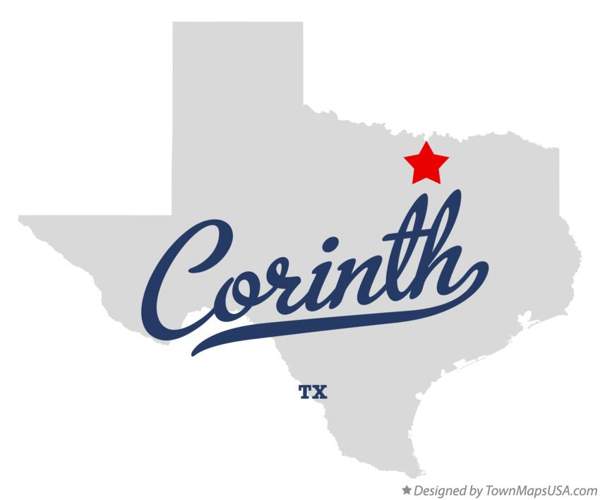 Map of Corinth Texas TX