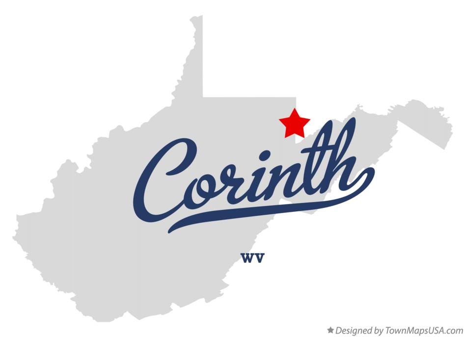 Map of Corinth West Virginia WV