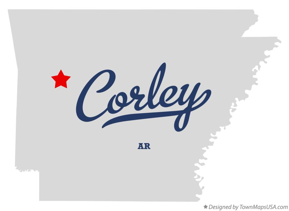 Map of Corley Arkansas AR