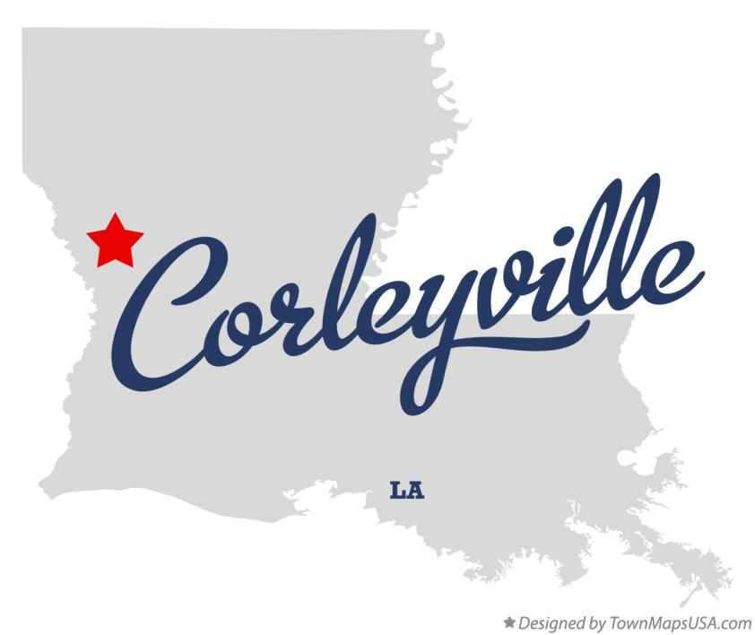 Map of Corleyville Louisiana LA