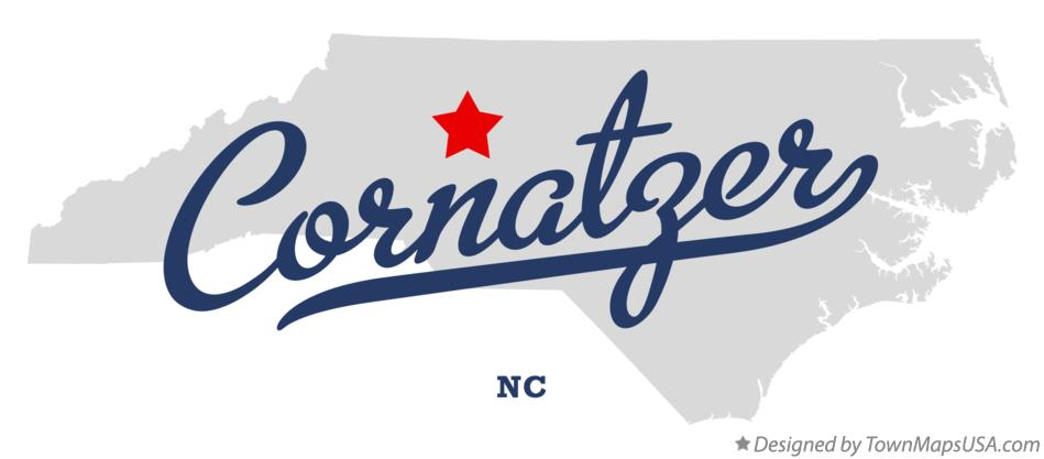 Map of Cornatzer North Carolina NC