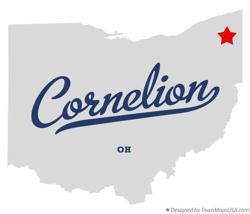 Map of Cornelion Ohio OH