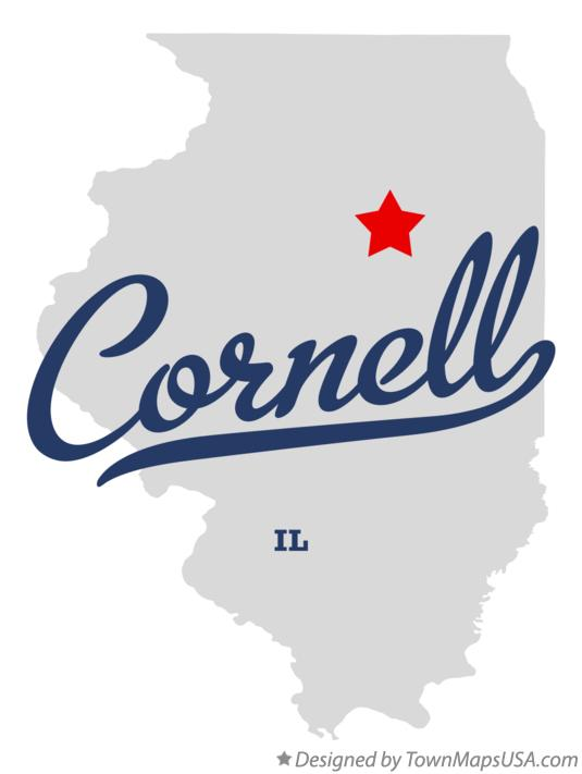 Map of Cornell Illinois IL