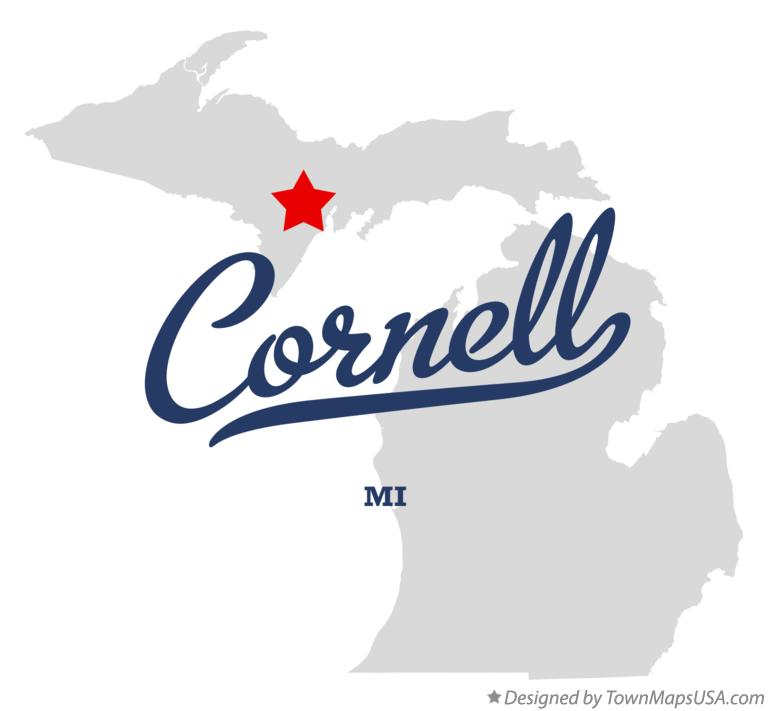 Map of Cornell Michigan MI