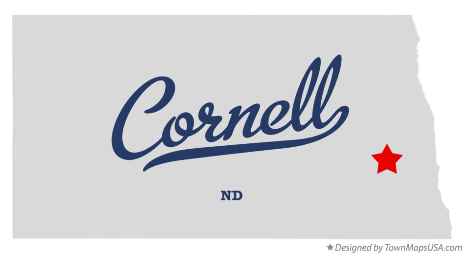 Map of Cornell North Dakota ND