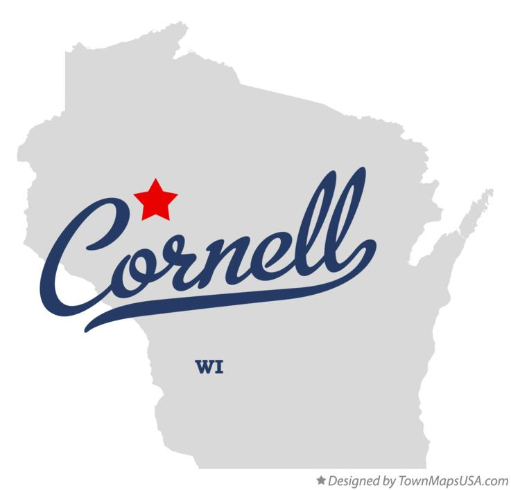 Map of Cornell Wisconsin WI