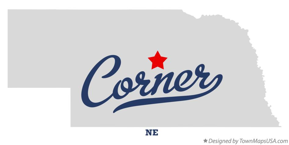 Map of Corner Nebraska NE
