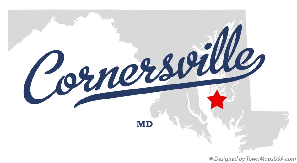 Map of Cornersville Maryland MD