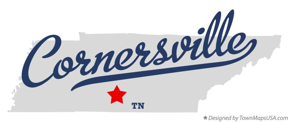 Map of Cornersville Tennessee TN