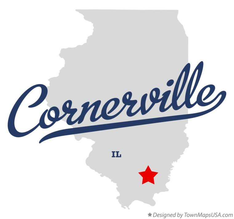 Map of Cornerville Illinois IL