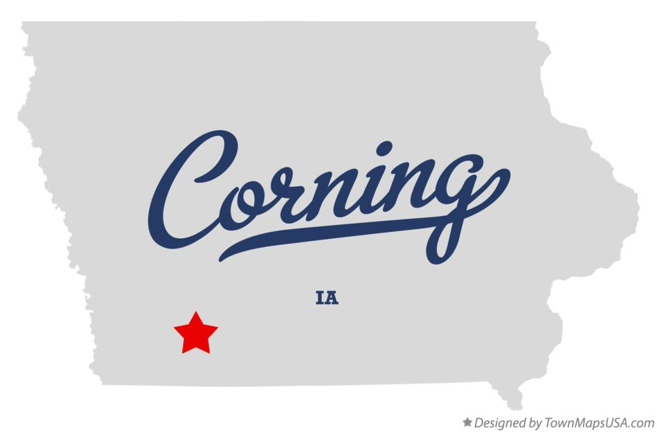 Corning (IA) United States  city pictures gallery : Map of Corning, IA, Iowa