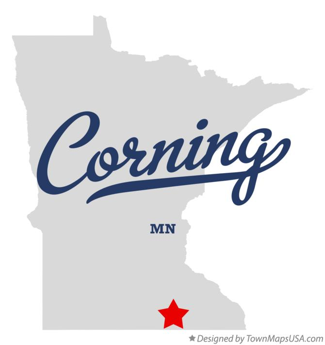 Map of Corning Minnesota MN