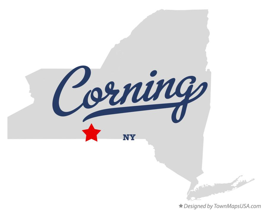 Map of Corning New York NY