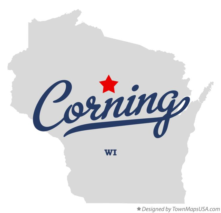 Map of Corning Wisconsin WI