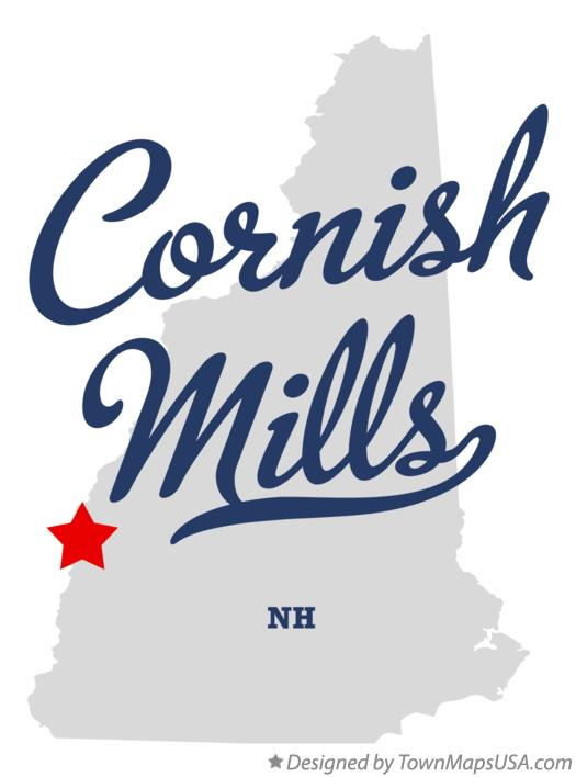 Map of Cornish Mills New Hampshire NH