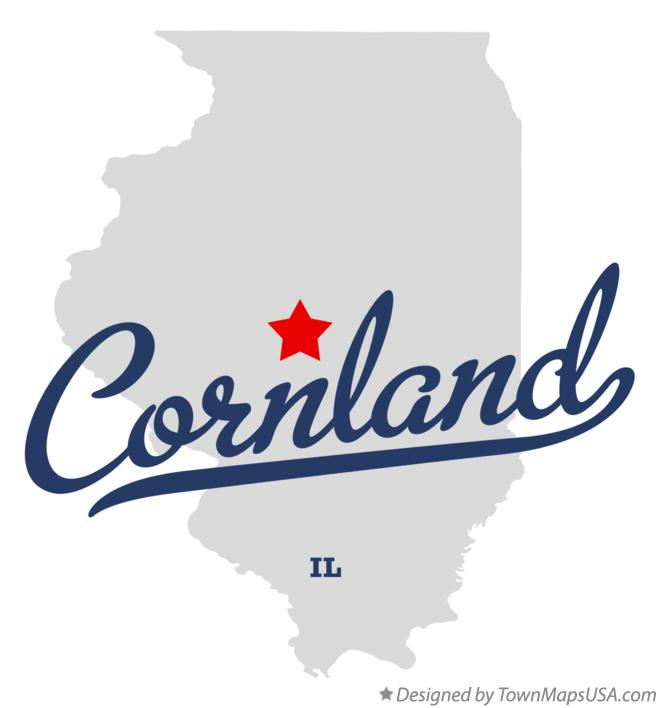 Map of Cornland Illinois IL