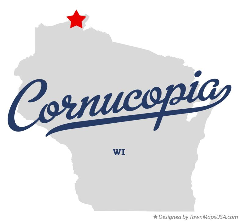 Map of Cornucopia Wisconsin WI