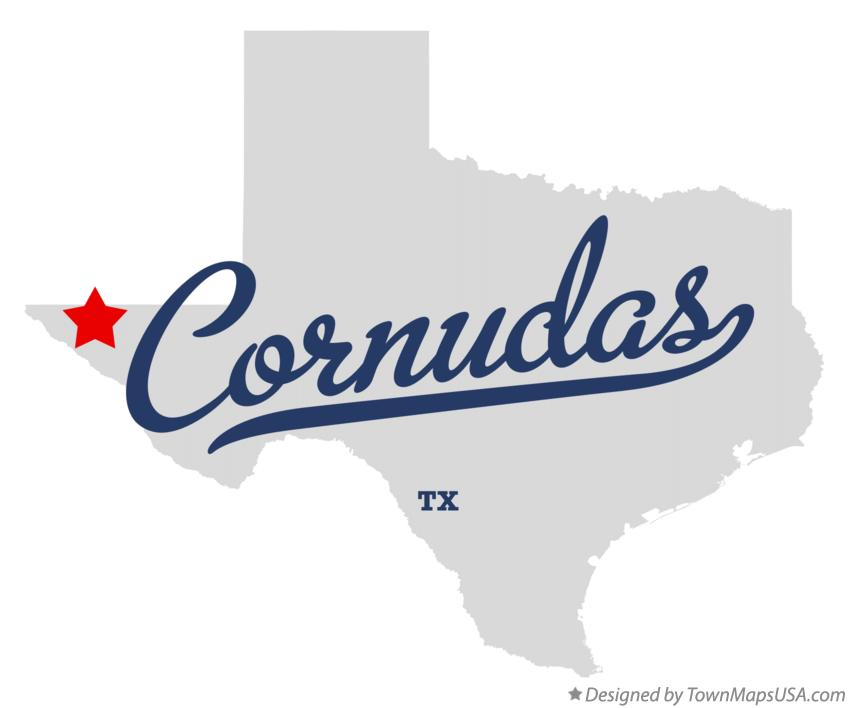 Map of Cornudas Texas TX