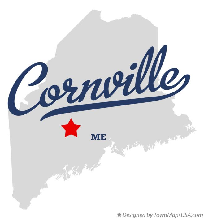 Map of Cornville Maine ME