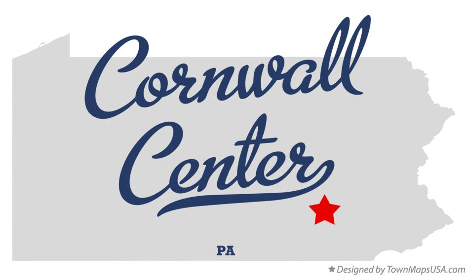Map of Cornwall Center Pennsylvania PA