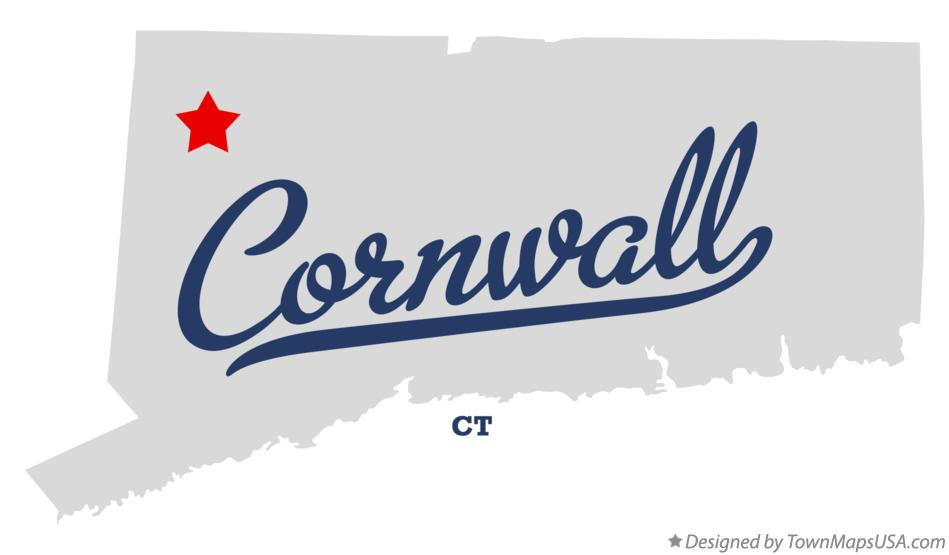 Map of Cornwall Connecticut CT