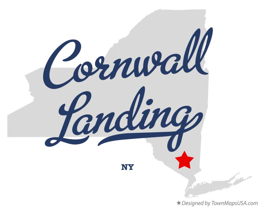 Map of Cornwall Landing New York NY