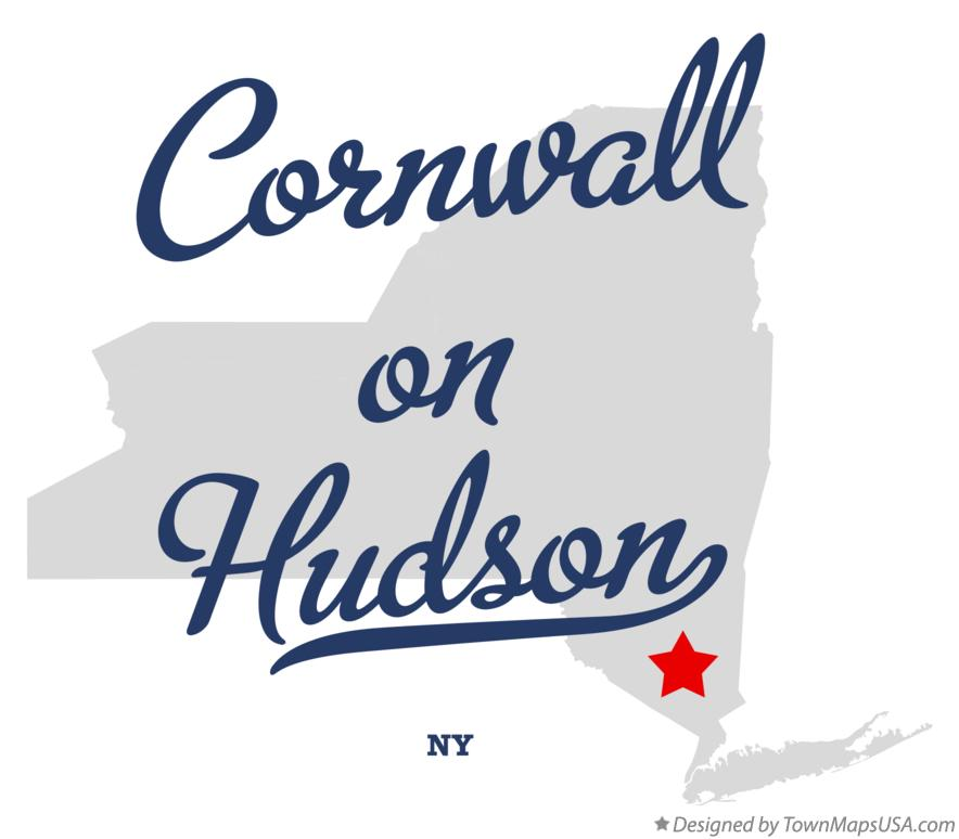 Map of Cornwall-on-Hudson New York NY