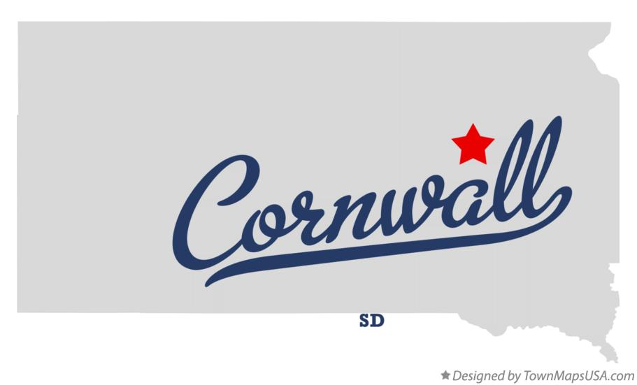Map of Cornwall South Dakota SD