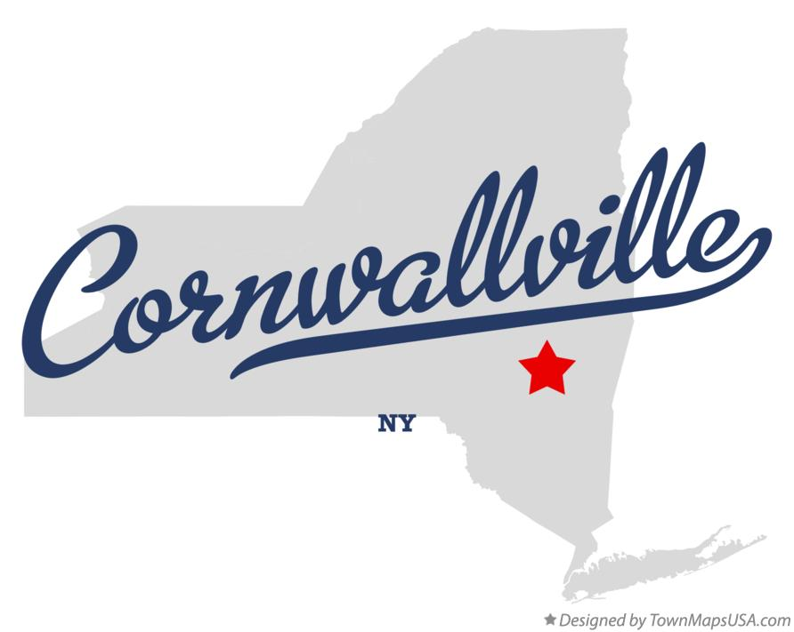 Map of Cornwallville New York NY
