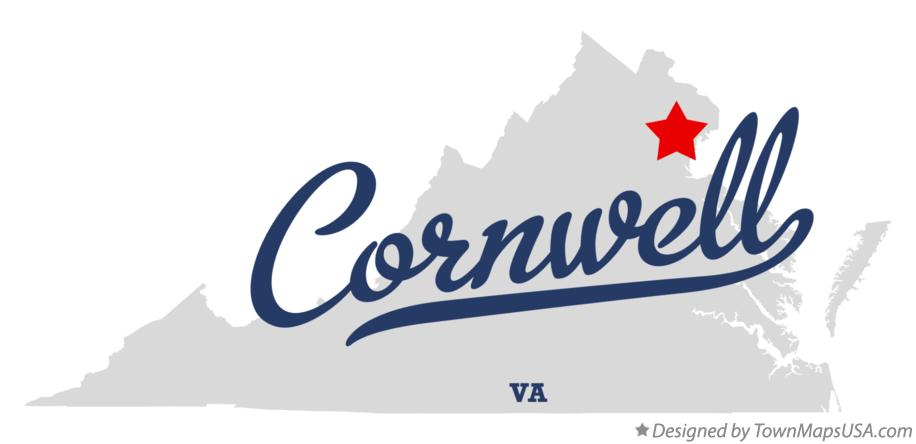 Map of Cornwell Virginia VA