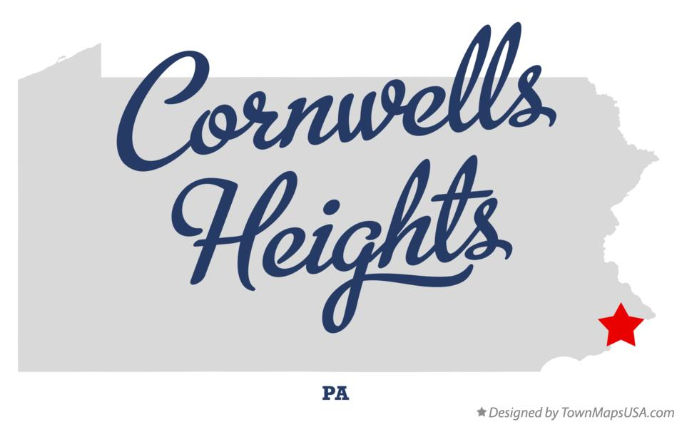 Map of Cornwells Heights Pennsylvania PA