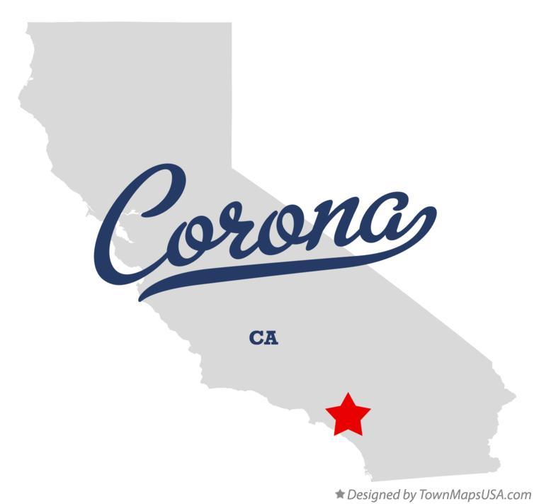 Map Of Corona Ca California