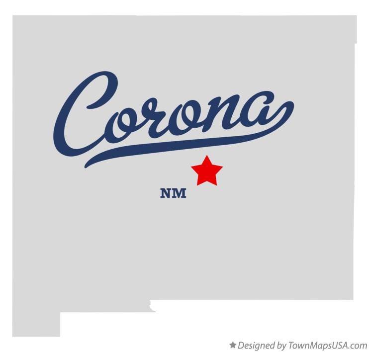 Map of Corona New Mexico NM