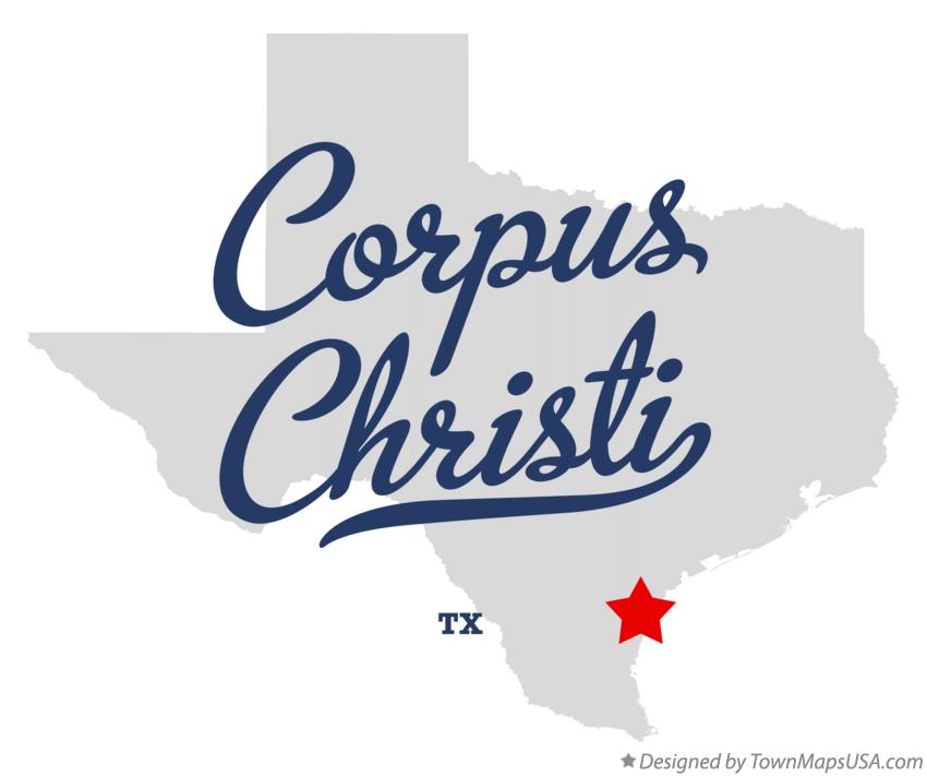 Map of Corpus Christi Texas TX
