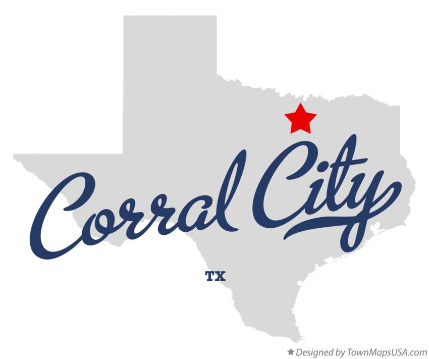 Map of Corral City Texas TX