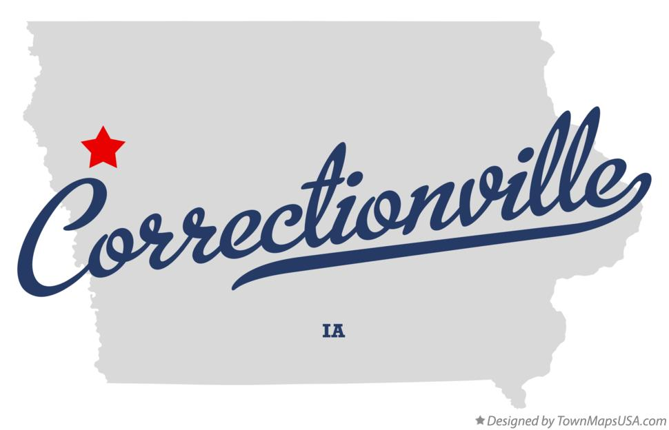 Map of Correctionville Iowa IA