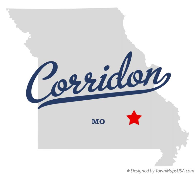 Map of Corridon Missouri MO