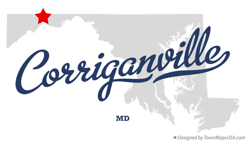 Map of Corriganville Maryland MD