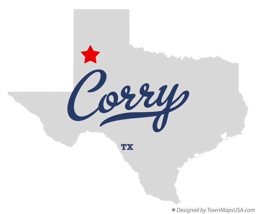 Map of Corry Texas TX