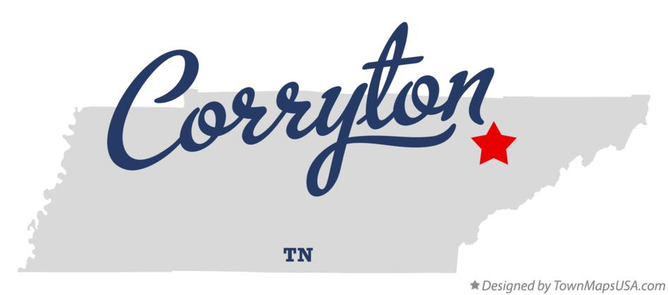 Map of Corryton Tennessee TN