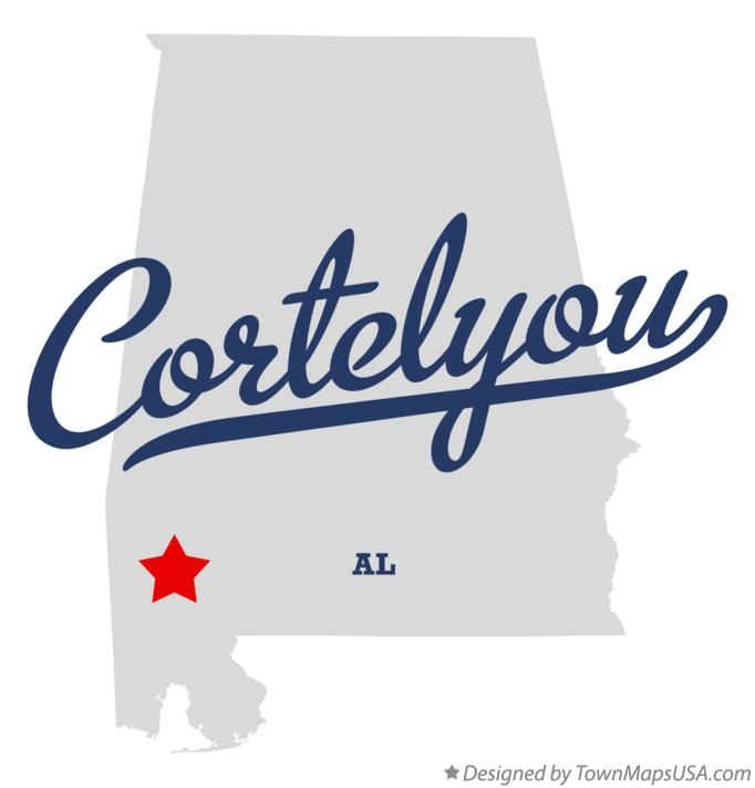 Map of Cortelyou Alabama AL