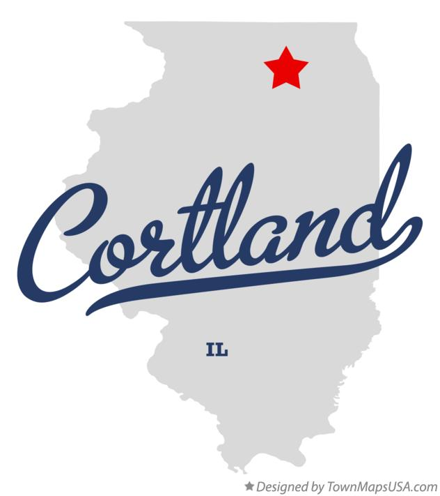 Map of Cortland Illinois IL