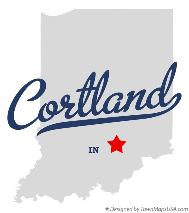 Map of Cortland Indiana IN