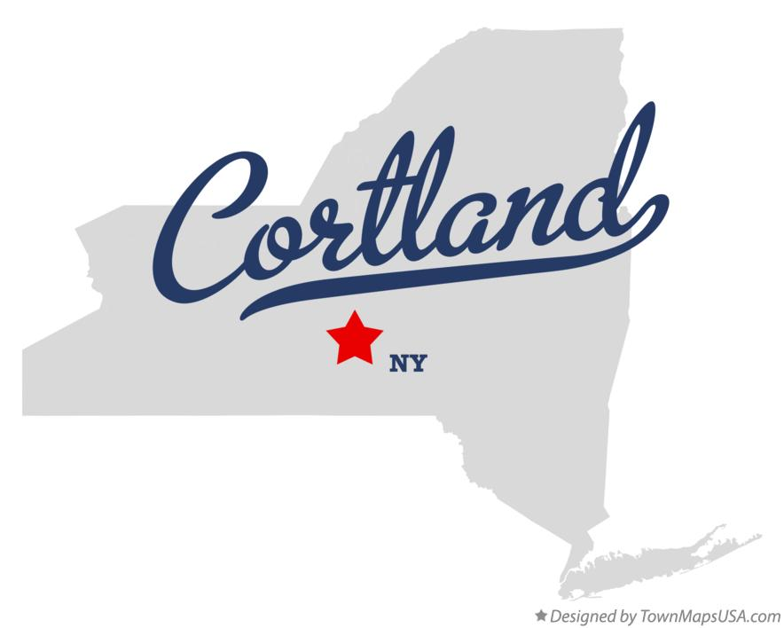 Map of Cortland New York NY