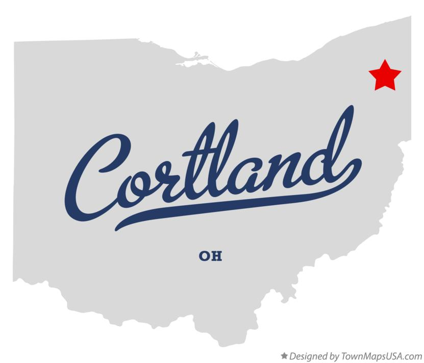 Map of Cortland Ohio OH