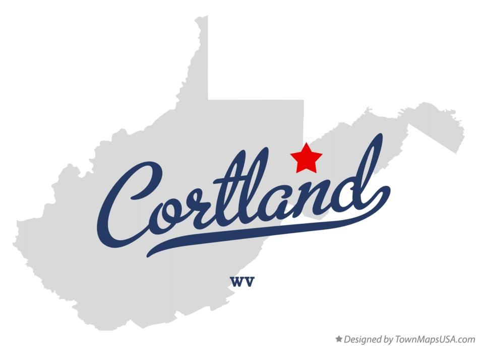 Map of Cortland West Virginia WV