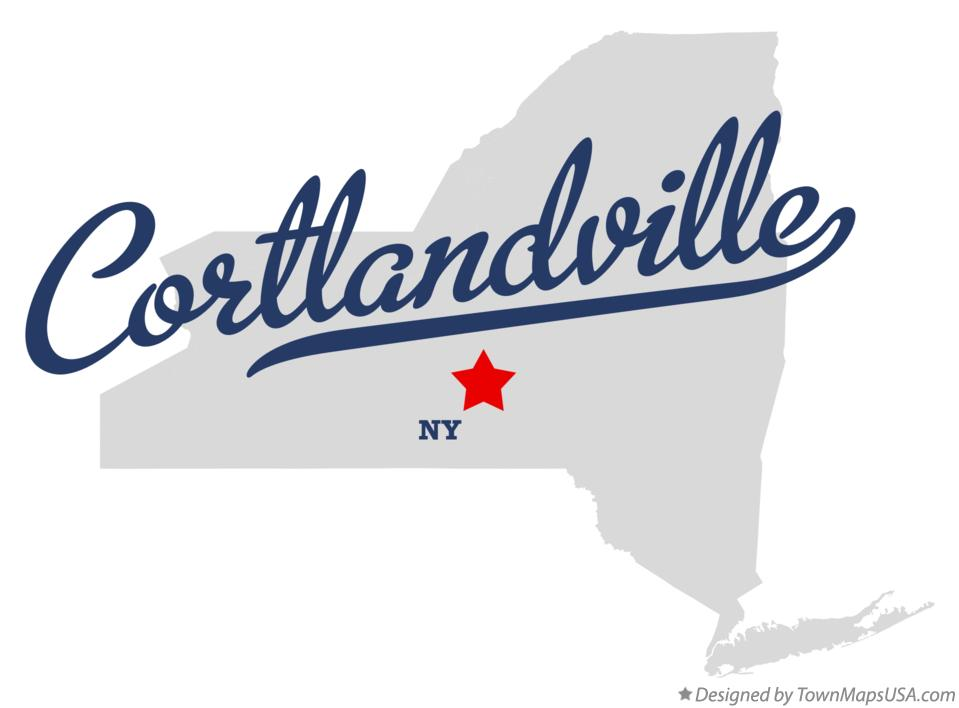 Map of Cortlandville New York NY